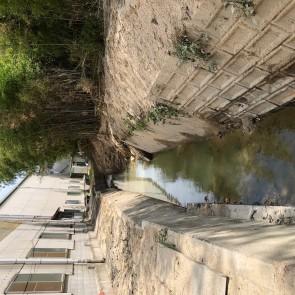 土砂撤去後の川
