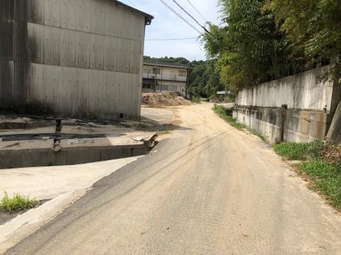 現在の会社前道路